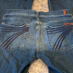 7 For All Mankind DOJO jeans flare size 27 7FAM